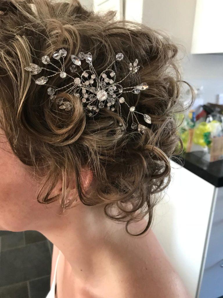 bruidskapsel, bruidscoupe, feestkapsel