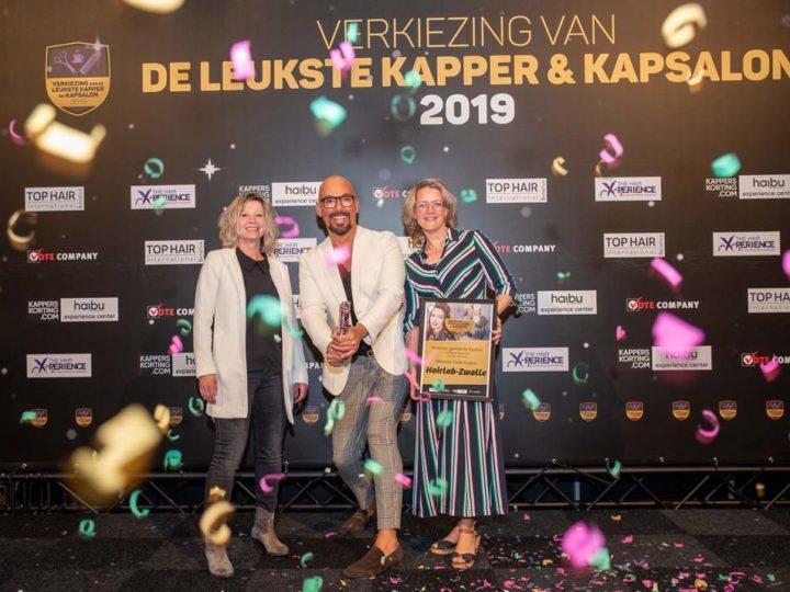 Wij hebben de Verkiezing van de Leukste Kapper en Kapsalon in Zwolle gewonnen!